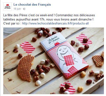 Fete des Pères - Le chocolat des français