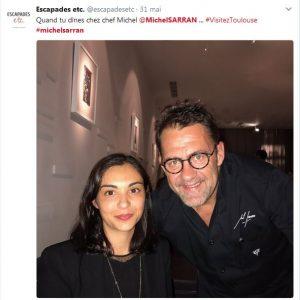 Selfie avec Chef étoilé Michel Sarran