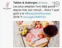 Beaujolais nouveau TAF