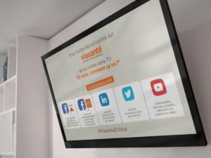 Communiquez votre présence RS - écrans agences