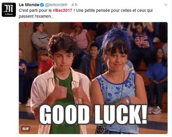 Good luck pour le Bac