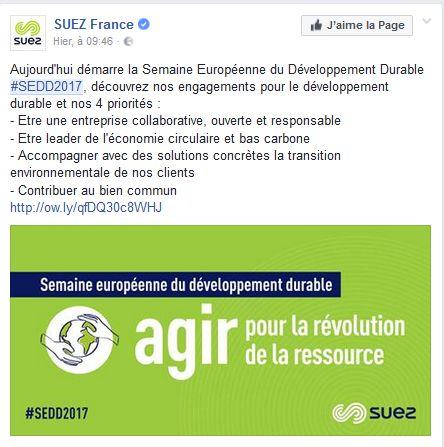 Semaine développement durable - Suez