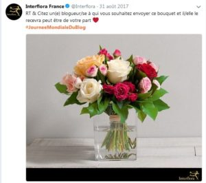 Journee mondiale du blog interflora
