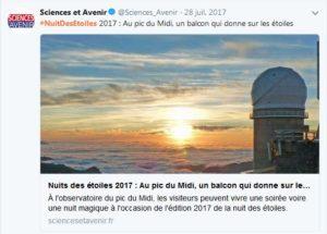 Nuit des étoiles Sciences Avenir