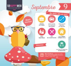 calendrier éditorial réseaux sociaux septembre