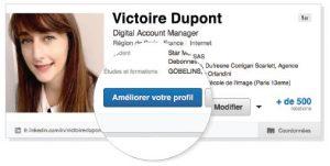 bouton améliorer profil Linkedin