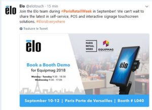 Paris retail week ELO