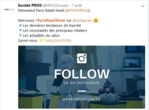 Paris Retail Week Prios