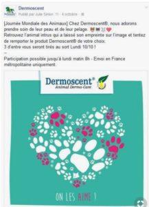 Journee mondiale des animaux - Dermoscent