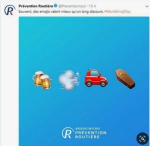 emoji day prevention routière