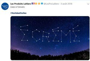 Nuits des étoiles -Produits Laitiers