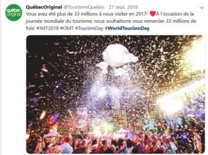 World tourism Day Quebec