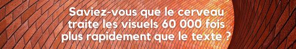 Les visuels sont traités 60 000 fois plus rapidement que le texte