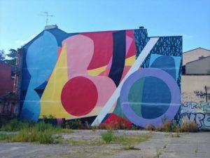 Mur coloré et pop à Toulouse