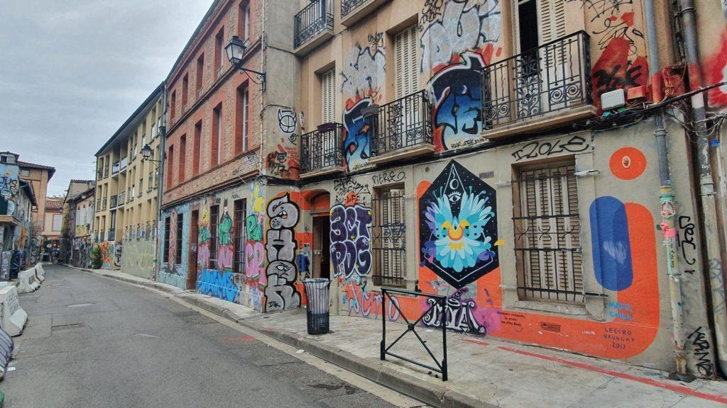 Une rue colorée pour un spot photo pop !