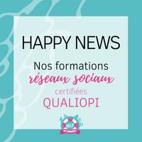 Notre formation réseaux sociaux est certifiée Qualiopi !
