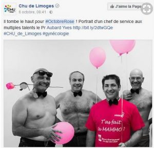 Octobre rose -CHU de Limoges
