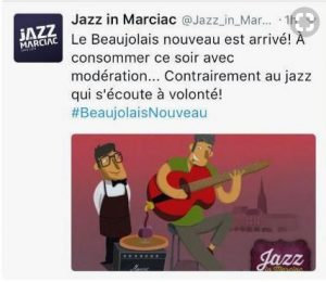 Beaujolais nouveau jazz in marciac
