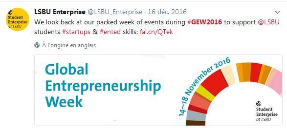 Semaine entrepreneuriat