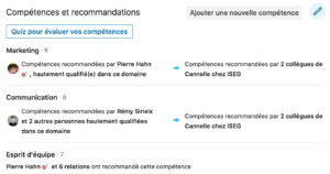 Optimiser les compétences et recommandations sur son profil linkedin