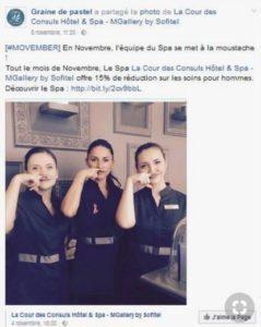 La team Graine de Pastel pose pour Movember
