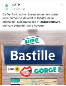 Blague 1er avril RATP