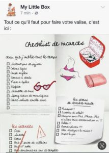 My little box checklist vacances