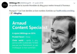 Journée du blog - Withings