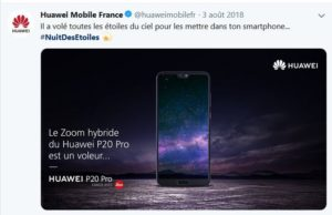 Nuit des étoiles Huawei