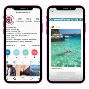 idée pour stories instagram le slip français