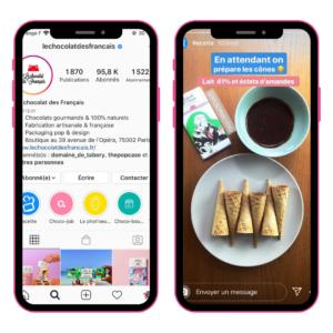 inspiration stories instagram le chocolat des français