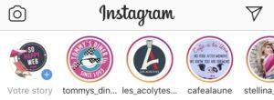 comment et où cliquer pour voir les story instagram