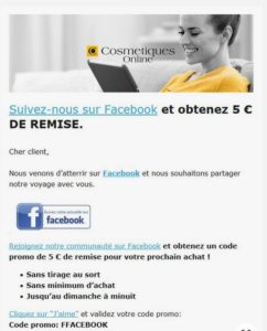 Remise fan facebook