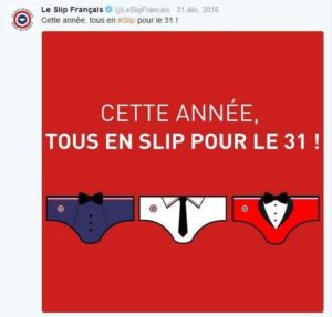 Le slip français, voeux sur réseaux sociaux