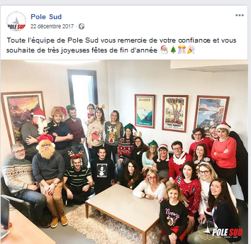Pull de noël Pole Sud