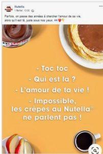 Saint Valentin, Nutella
