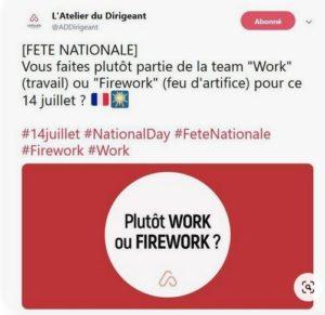 14 juillet - work ou firework ?