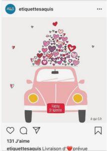 Saint Valentin - Etiquettes Aquis