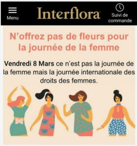 Journée des Droits de la Femme, interflora