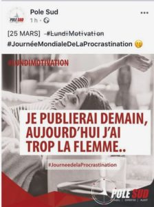 Journee procrastination - Pole Sud