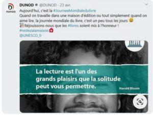 Journée mondiale du livre - Editions Dunod