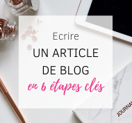So Happy Web - Ecrire un article de blog en 6 étapes clés