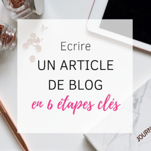 Ecrire un article de blog en 6 étapes clés So Happy Web