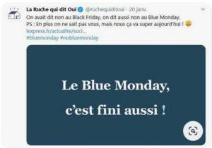 Blue Monday La Ruche qui dit oui