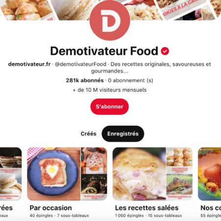 pinterest le compte food préféré de Marie, CEO de SO HAPPY WEB à Toulouse