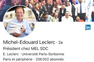 LINKEDIN, le compte de Michel Edouard Leclerc