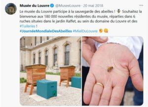 Journée mondiale des abeilles - installation de ruches au Musée du Louvre
