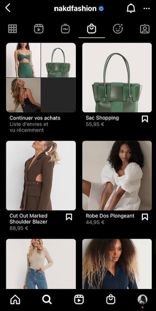 social shopping instagram naked store